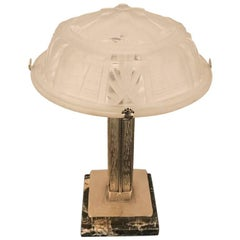 French Art Deco Table Lamp Signed by Muller Frères Luneville