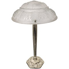 French Art Deco Table Lamp Singed by Muller Frères