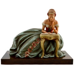 French Art Deco Terracotta Statue by Ugo Cipriani, 1940s