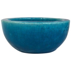French Art Deco Turquoise Bowl Lachenal