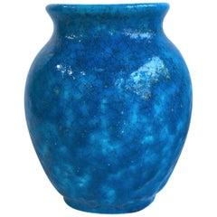 French Art Deco Turquoise Vase Lachenal