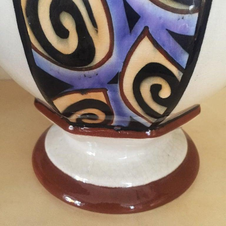 Mid-20th Century French Art Deco Vase, 1930s For Sale