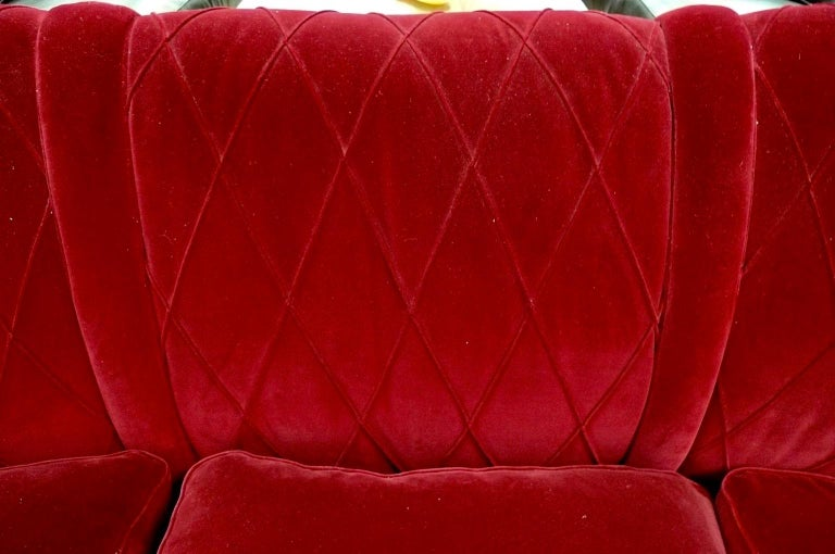French Art Deco Velvet Upholstered Chair For Sale 14
