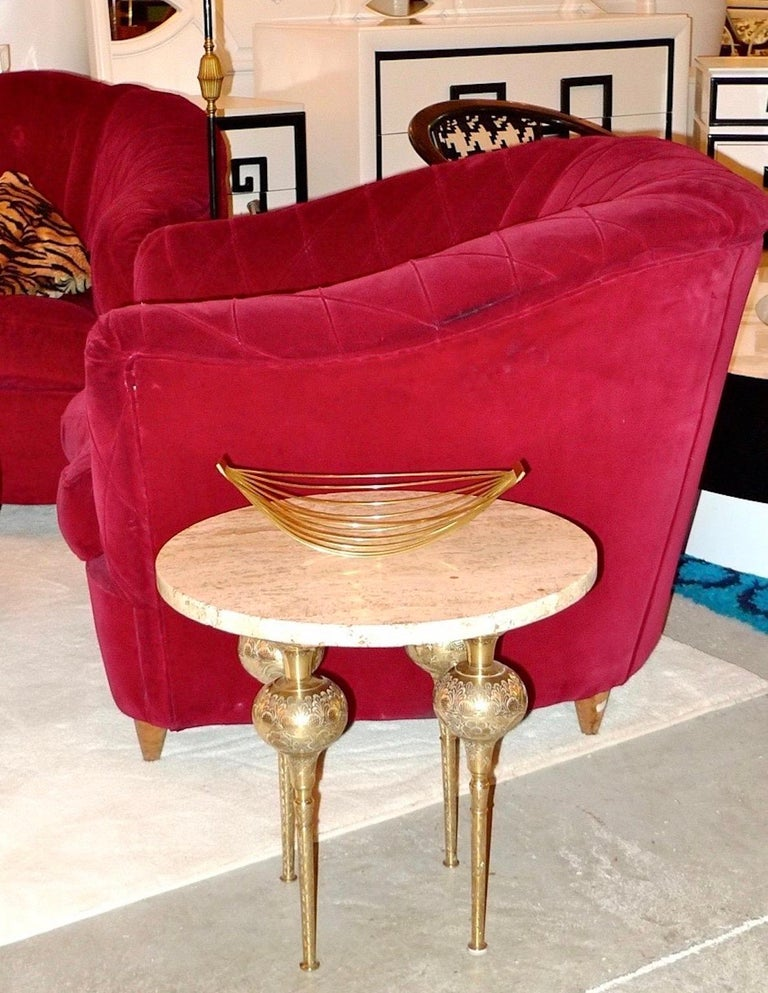 French Art Deco Velvet Upholstered Chair For Sale 2
