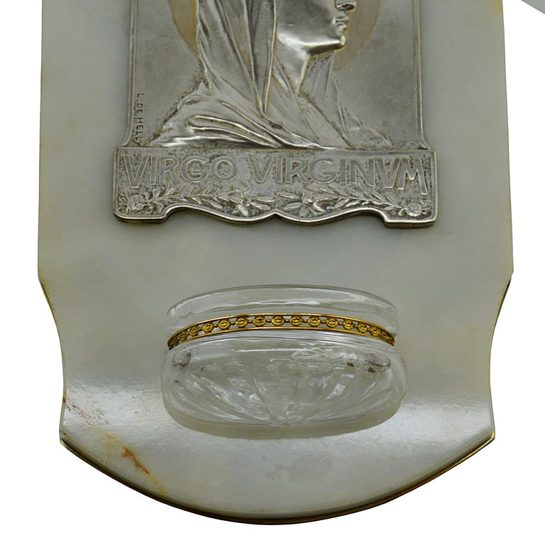 French Art Deco Virgin Holy Water, 1930s In Excellent Condition For Sale In Saint-Amans-des-Cots, FR