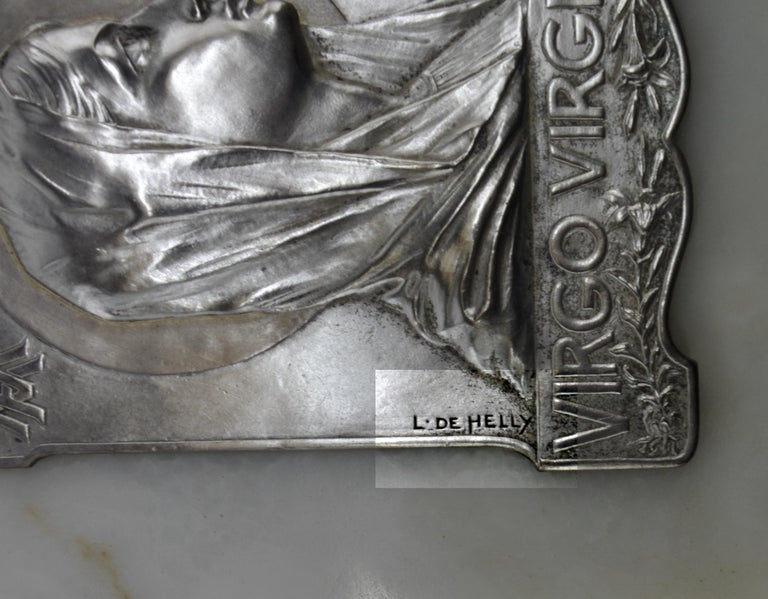 Mid-20th Century French Art Deco Virgin Holy Water, 1930s For Sale