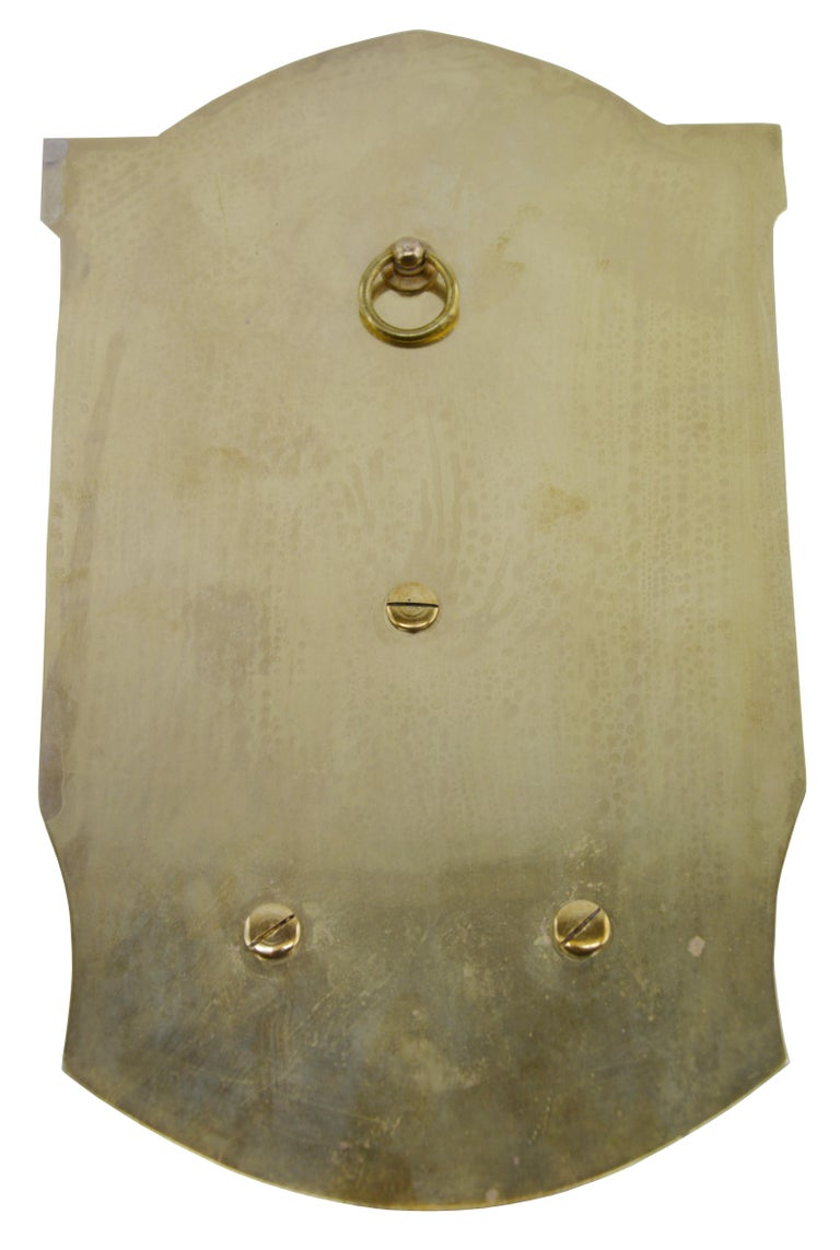 Brass French Art Deco Virgin Holy Water, 1930s For Sale