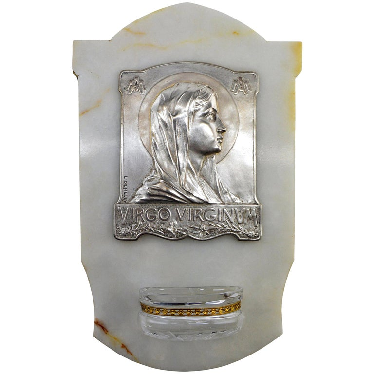 French Art Deco Virgin Holy Water, 1930s For Sale