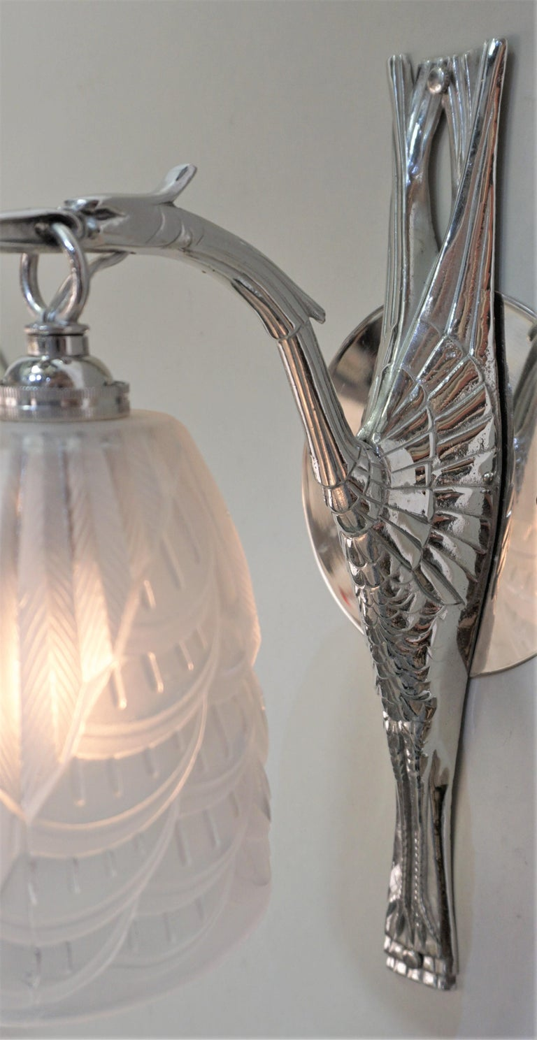 French Art Deco Wall Sconces by Charles Schneider For Sale 1