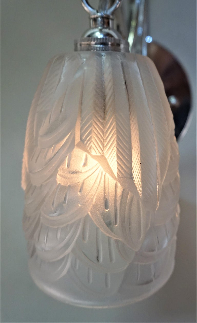 French Art Deco Wall Sconces by Charles Schneider For Sale 2