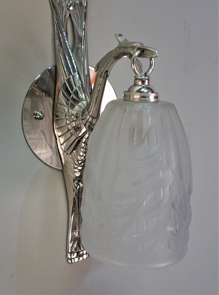 French Art Deco Wall Sconces by Charles Schneider For Sale 4