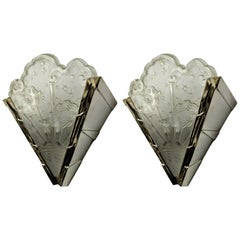 French Art Deco Wall Sconces by Muller Ferers