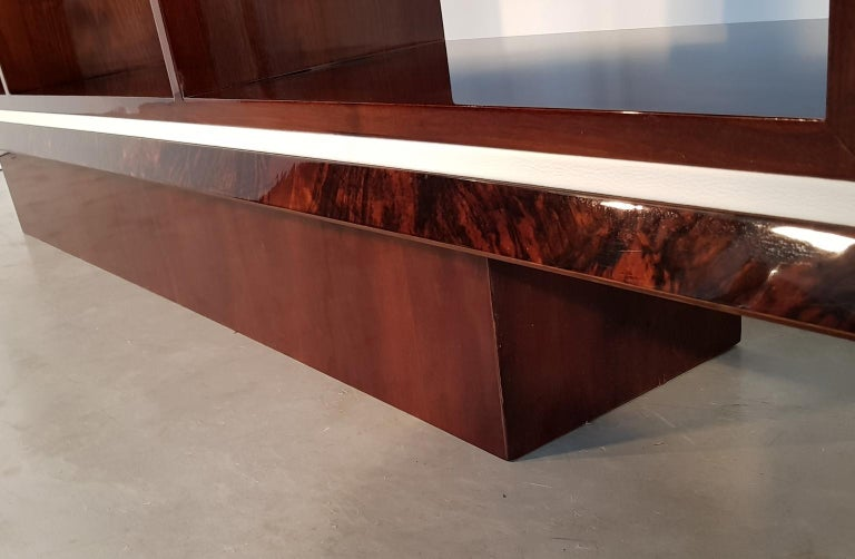 20th Century French Art Deco Walnut Bookcase, 1940s For Sale