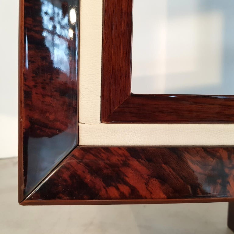 French Art Deco Walnut Bookcase, 1940s For Sale 3
