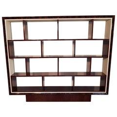 French Art Deco Walnut Bookcase, 1940s