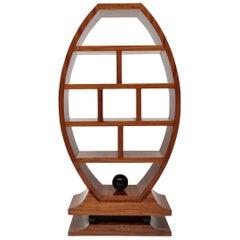 French Art Deco Walnut Bookshelf or Room Divider