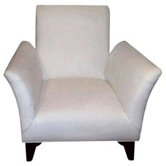 French Art Deco Walnut Club Chair Inspired by Jules Leleu