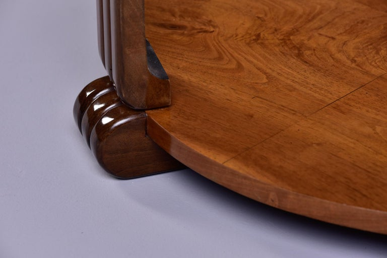 French Art Deco Walnut Side or Center Table 6