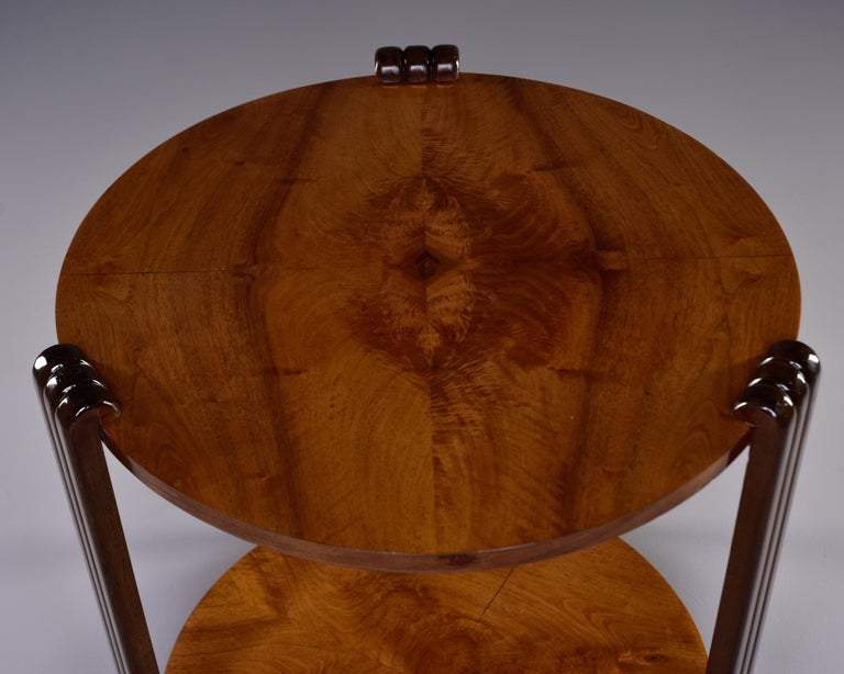 French Art Deco Walnut Side or Center Table 9