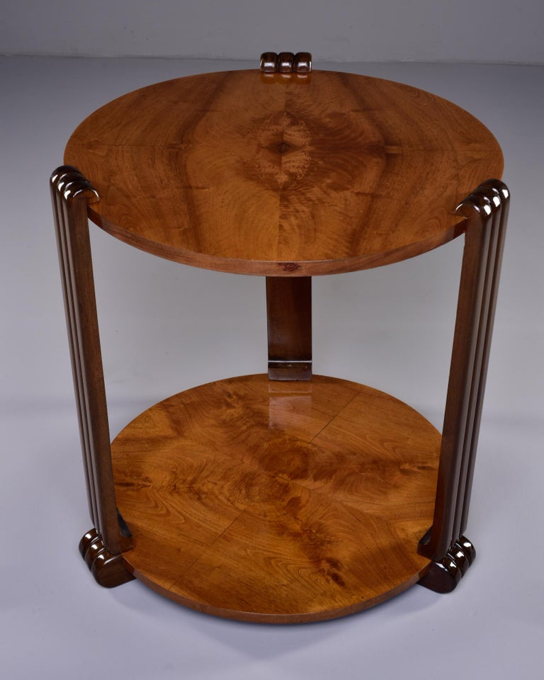 French Art Deco Walnut Side or Center Table 10