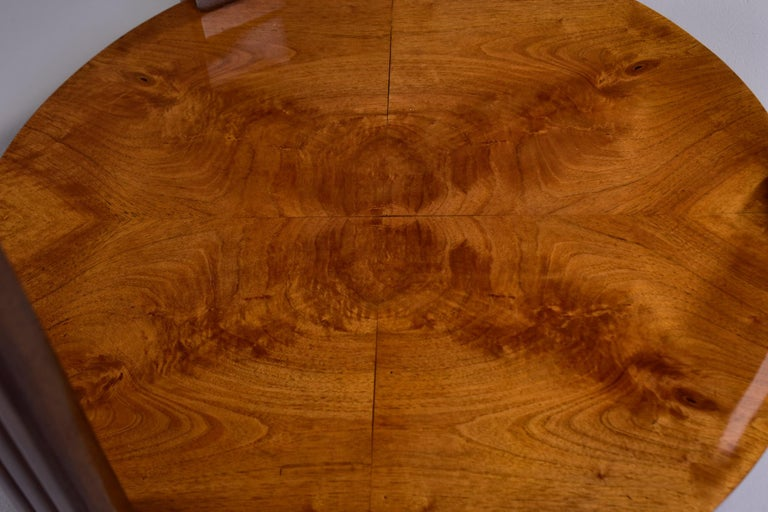 French Art Deco Walnut Side or Center Table 11