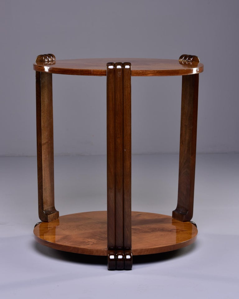 French Art Deco Walnut Side or Center Table In Good Condition In Troy, MI