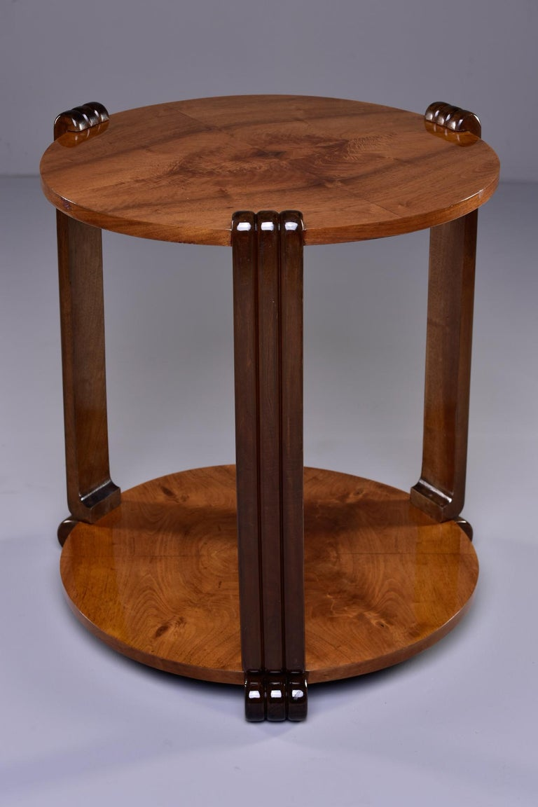 French Art Deco Walnut Side or Center Table 1