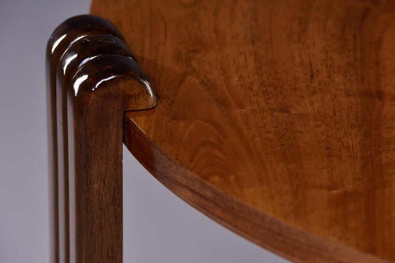French Art Deco Walnut Side or Center Table 4