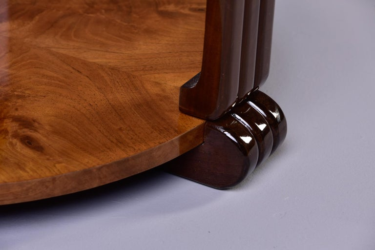 French Art Deco Walnut Side or Center Table 5