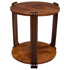 French Art Deco Walnut Side or Center Table