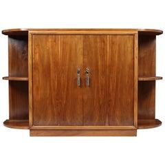 French Art Deco Walnut Sideboard, circa 1930
