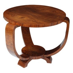 French Art Deco Walnut Table, 1930