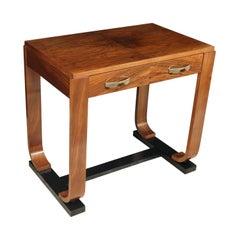 French Art Deco Walnut Writing Table