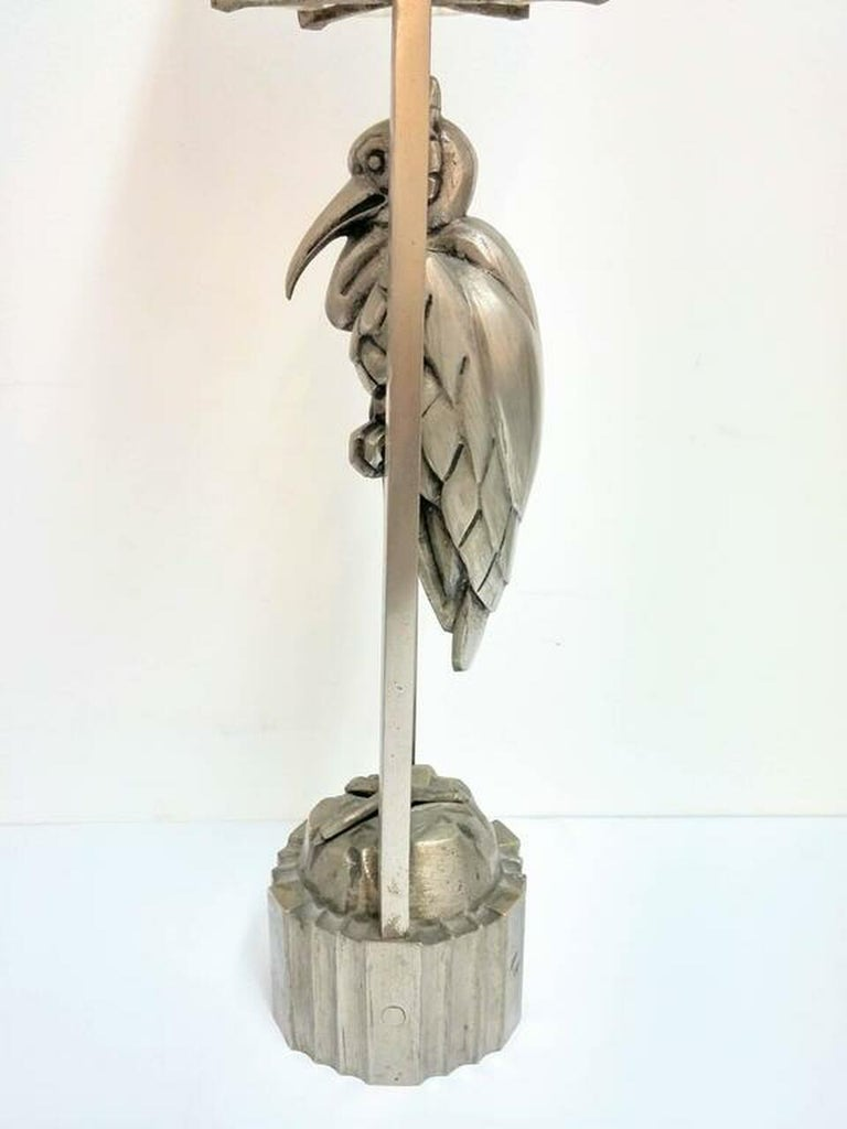 French Art Deco Waterfall Table Lamp by Sabino In Good Condition For Sale In Bronx, NY