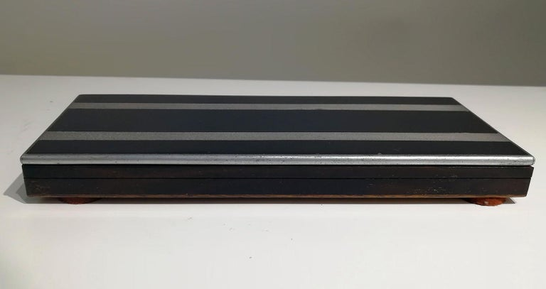 French Art Deco Wood Box, 1930s For Sale 1
