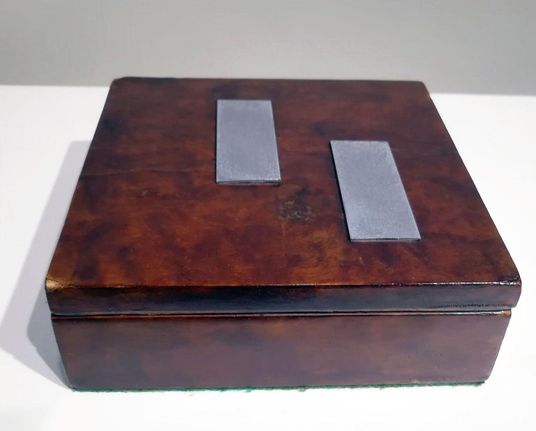 20th Century French Art Deco Wood Box, circa 1930 For Sale