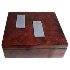 French Art Deco Wood Box, circa 1930