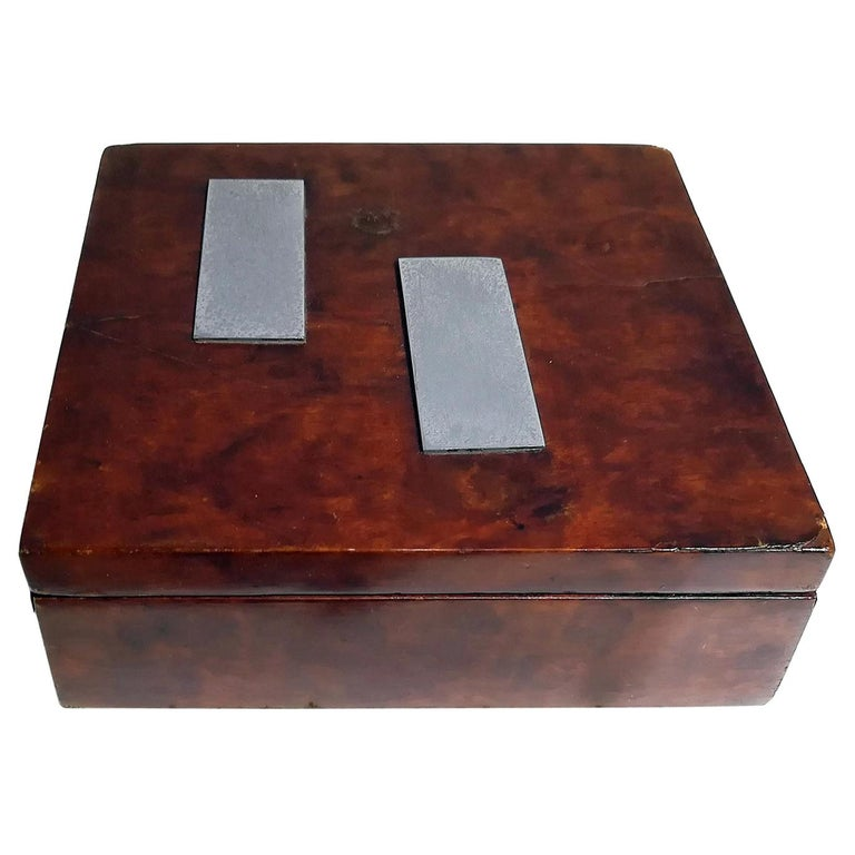 French Art Deco Wood Box, circa 1930 For Sale