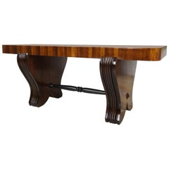 French Art Deco Wooden Coffee Table