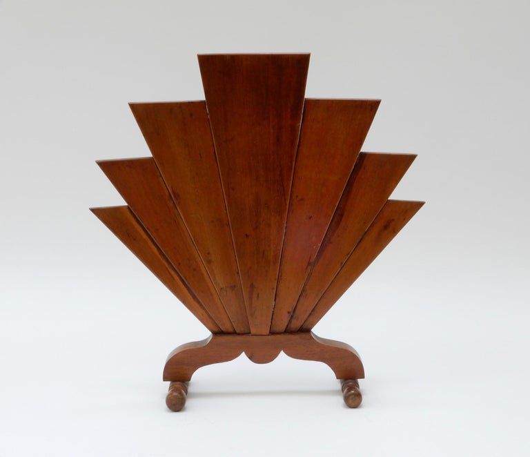 French Art Deco wooden fire screen.