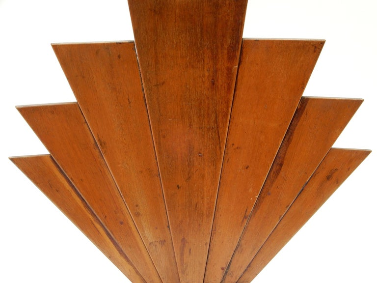 20th Century French Art Deco Wooden Fire Screen For Sale