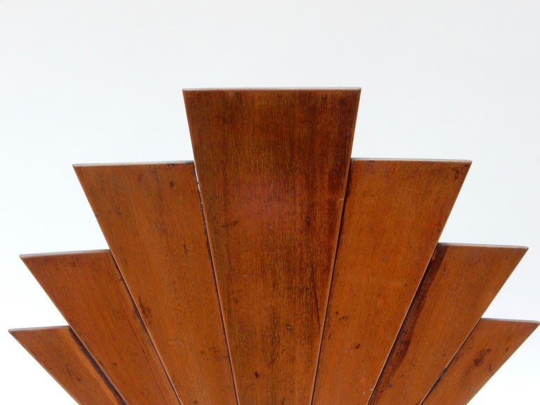 French Art Deco Wooden Fire Screen For Sale 1