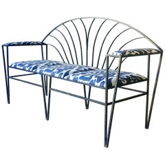 French Art Deco Wrought Iron Bench 1930s