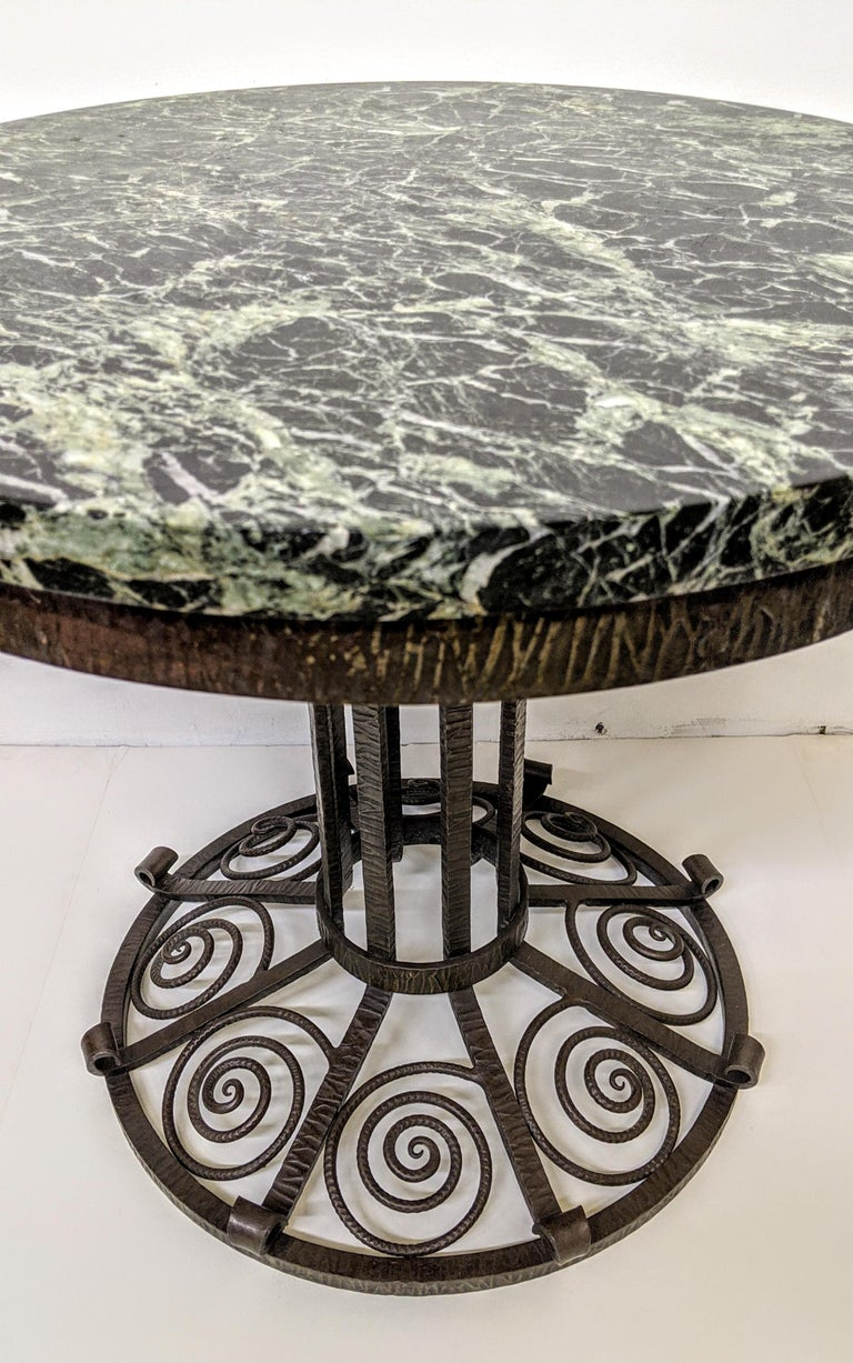 French Art Deco Wrought Iron Coffee or Side Table For Sale 1
