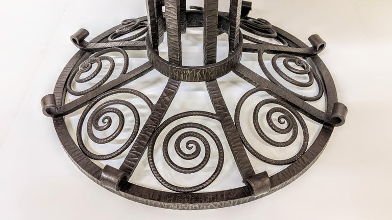 French Art Deco Wrought Iron Coffee or Side Table For Sale 2