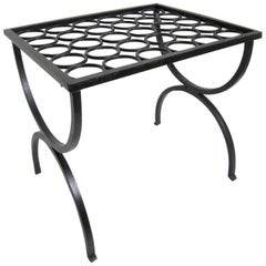 French Art Deco Wrought Iron Footstool