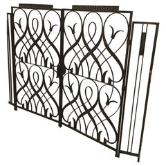 French Art Deco Wrought Iron Interior Gate By Edgar Brandt