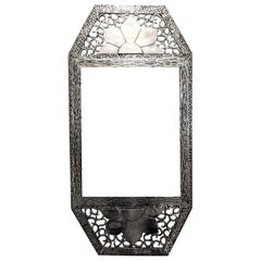 French Art Deco Wrought Iron Mirror