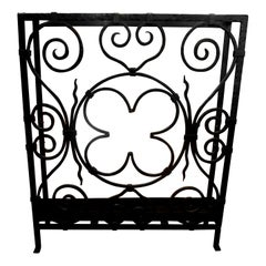 French Art Deco Wrought Iron Umbrella Stand
