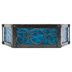 French Art Deco Wrought-Iron Wall Sconce, circa 1920
